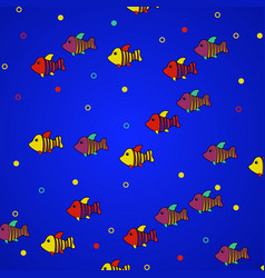Abstract fishes in depths ocean vector
