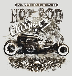 American custom rod classic vector