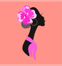 an african woman vector image