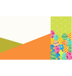 Art of easter egg collection vector