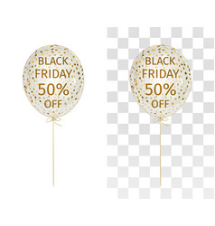 balloon gold spangle black friday 50 percent off vector image