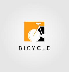 bicycle bike logo icon negative space design vector image