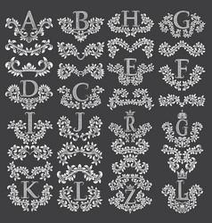 Big set of ornamental elements for design vector