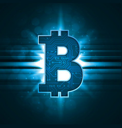 Bitcoin crypto currency sign vector