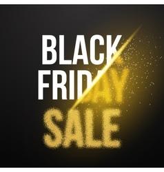 Black Friday Sale Gold Explosion Poster Black vector image
