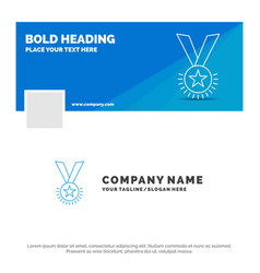 blue business logo template for award honor medal vector image