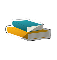 books library education vector image