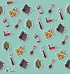 Boy scouts concept icons pattern vector