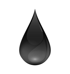 Brent Oil Drop black icon isolated on white vector