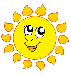 Sun weather. Sunny clipart vector images