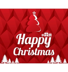 Christmas Greeting Card Christmas tree Eps10 vector image