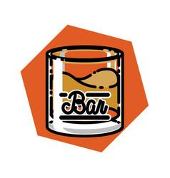 color vintage bar emblem vector image