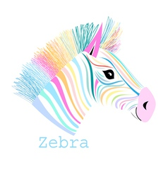 colorful portrait zebra vector image