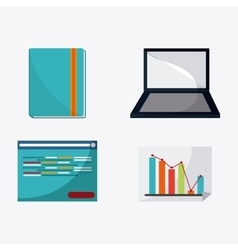 Colorful webinar icon over white background vector