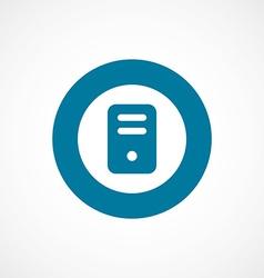 computer bold blue border circle icon vector image