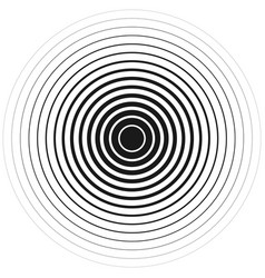 concentric black lines on a white background eps vector image