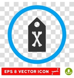 Dead marker eps rounded icon vector