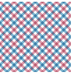 diagonal checkered plaid seamless pattern vector image