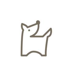 dog animal logo icon design vector image