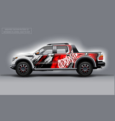 Editable template for wrap suv with abstract power vector