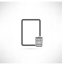Empty Trash Icon vector