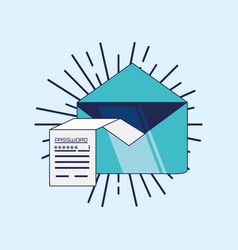 Envelope mail data security vector