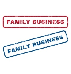 Family Business Rubber Stamps vector