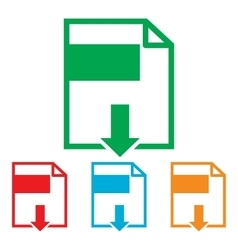 File download sign vector image