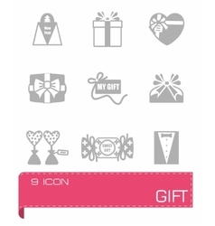 Gift icon set vector image