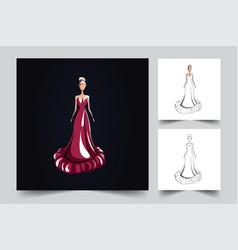 girl fashion artwork vector image
