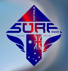 Gold coast Australia surf rider Extreme sport logo vector