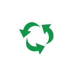 green arrows recycle icon zerowaste concept vector image