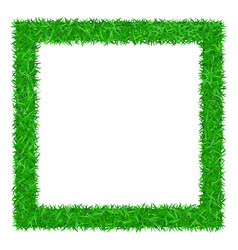 Green grass frame 3d isolated on white background vector