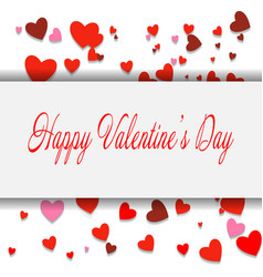 happy valentines day lettering card eps10 vector image