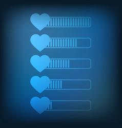 health bar icon vector image