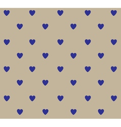 heart polka blue vector image