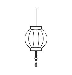 Japanese pendant light vector