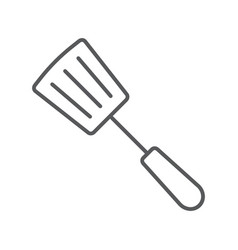 kitchen spatula thin line icon kitchen cooking vector image