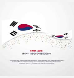 Korea south happy independence day background vector