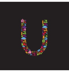 Letter U vector