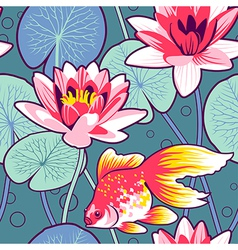 lily pattern vector image