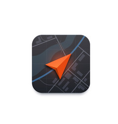 map navigation icon road travel direction arrow vector image