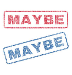 Maybe textile stamps vector