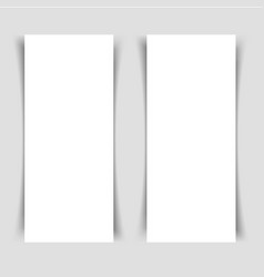 mok-up of two narrow vertical flyers vector image