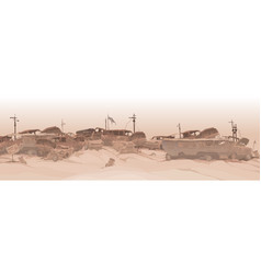 Monochrome panoramic background a dump of vector