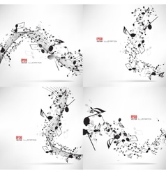 Music abstract musical vector image