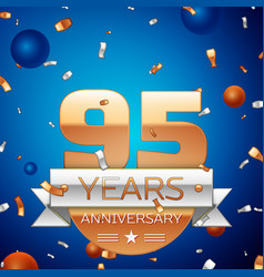 Ninety five years anniversary celebration design vector