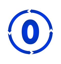 number 0 icon vector image