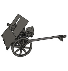 Old field gray light cannon vector