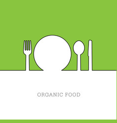 organic food icon vector image